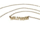 Gold Hollywood Necklace   Hollywood Sign Necklace   Hollywood Necklace by Sarah Cecelia