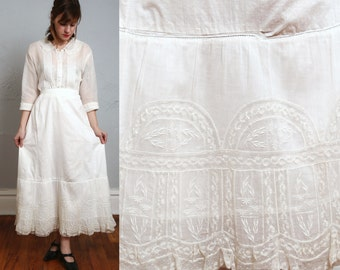 SALE Antique Cotton Skirt and Top
