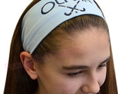 Custom Personalized EMBROIDERED Field Hockey Cotton Stretch Headband  -  Your TEXT and TEAM Colors