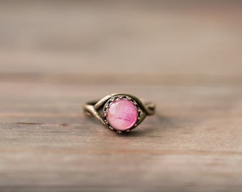 Pink peony ring - Pink bridesmaid ring - Delicate ring - Flower pink ring - Bridesmaid pink gift - Bloom by BeautySpot (R075)