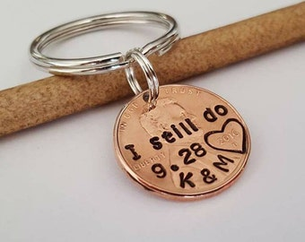 I Still Do - Hand Stamped Penny, Personalized Gift For Him, 1 yr anniversary gift, 7 year anniversary gift, Husband Anniversary Gift