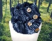 Smokey Black Four Button Cowl