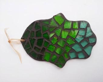Hamsa, Mosaic, Glass, Wall Ornament, Judaica Handmade, Hamsa Glass,  Israel  Gift, Jewish art,