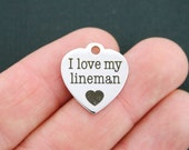 Lineman Stainless Steel Charm - Exclusive Line - Quantity Options  - BFS660