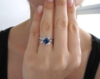 Wedding Set, Leaf Ring Wedding Set, Leaf  Engagement Ring, Leaf Ring Set, Leaf Wedding Ring Set, Engagement Leaf Ring Set, Gold Leaf Ring