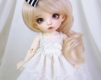 Cream ruffle dress for PukiFee, Lati Yellow