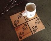 French Bulldog Coasters, Frenchie Gift, Housewarming Gift, Dog Coasters