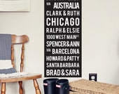 YOUR Family Tree Bus Scroll. Genealogy Tram Roll. Personalized for you. 12 x 36