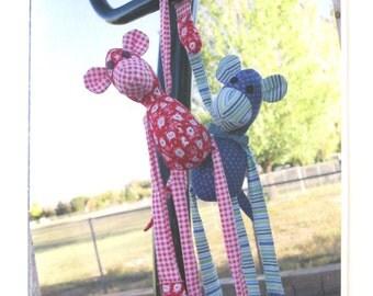 Stuffed Monkey Doll Toy Pattern, Pie Plate Patterns PPP #703, Monkey Business, 2012 UNCUT