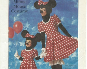 UNCUT Simplicity 7730 Disney Minnie Mouse Costume Pattern Size Misses Small