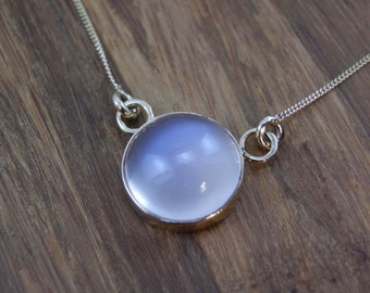 Moonstone Necklace hand made in Choice of 14 kt yellow gold or Sterling Silver