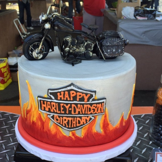 motorbike themed wedding cakes motorcycle wedding themed birthday cake topper harley rider 17596