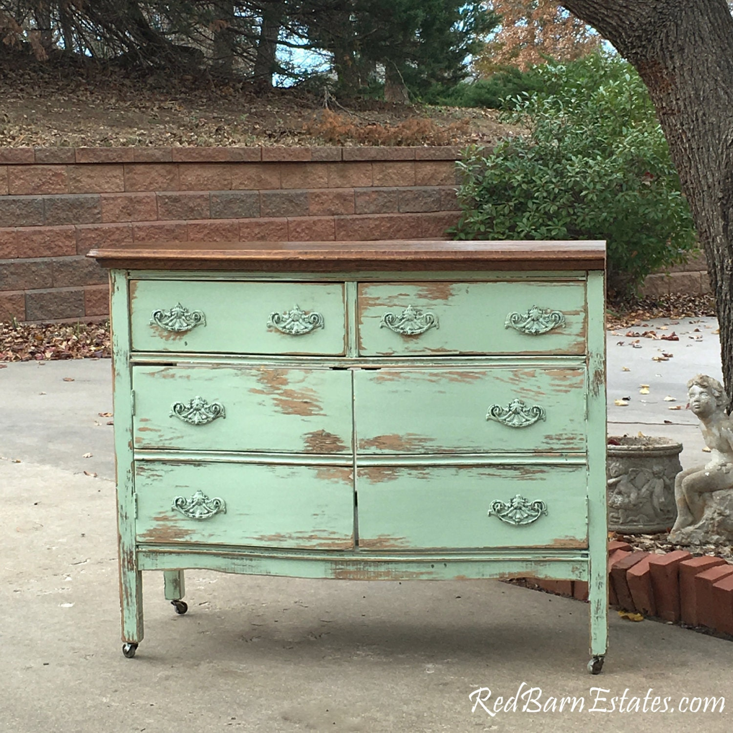 Painting And Distressing Bathroom Cabinets bathroom vanity from antique dresser! we find, restore, convert