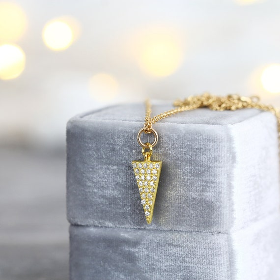 Cubic Zirconia Necklace - Minimalist Necklace
