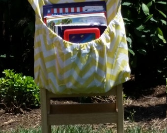 YELLOW ChEvRoN  // Chair Pockets // Teacher Classroom //Seat Sacks <<16 inch PREMIUM>> End of Year SALE // CoffeeKidsNDolls