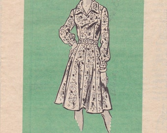 Vintage Mail Order Dress Pattern 4749 Size 8