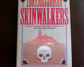 Tony Hillerman Skinwalkers First Edition Signed by Author 1986 Harper & Row Navajo Southwest Mystery