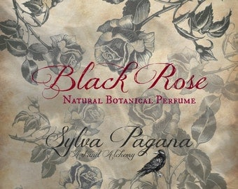Natural perfume spray - rose spice musk - BLACK ROSE - choose size
