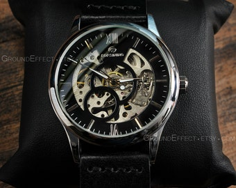 Skeleton Watch, Valentine's SALE, Gift for Him, Mens Skeleton Watch, Mechanical Watch, Unisex, Anniversary Gift, GEML-MW01