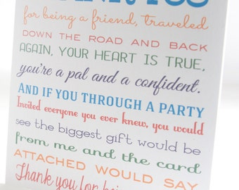 Thank You for Being a Friend Golden Girls CD Sleeve - Birthday, Shower or Bachelorette Gift