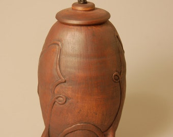 Lidded Vessel Urn Carved Spirited KH1359 Child Infant Pet Baby Cremation Ashes Handcrafted Artistic