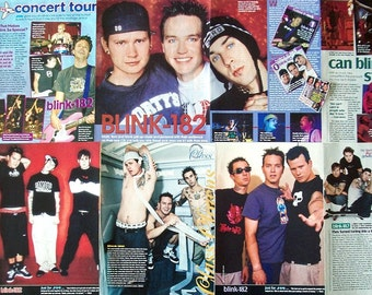BLINK-182 ~ All The Small Things, I Miss You, Mark Hoppus, Travis Barker, Tom DeLonge ~ Color Clippings, Articles, Pin-Ups for Scrapbooking