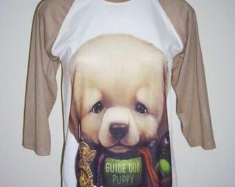 Guide Dog Puppy Shirt Dog T shirt Funny Shirt Men Tshirt Dog Lover Gift Women Tshirt Unisex Raglan Shirt Men Tee Shirt M