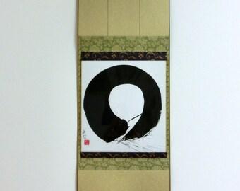 Original Abstract Painting Black and White Art Abstract Art Minimalist Art Modern Japanese Art Enso Zen Circle Zen Art Japanese Calligraphy