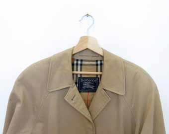 BURBERRYS vintage Trench Coat Mac Made in England Burberry Womans