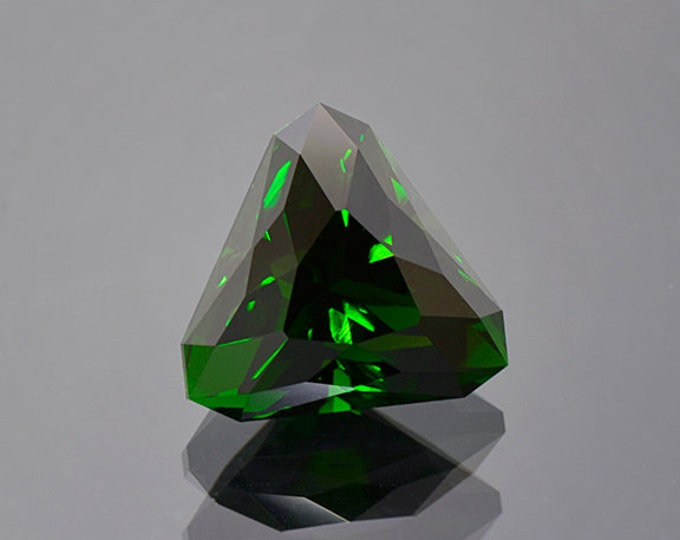 UPRISING SALE! Large Deep Green Chrome Tourmaline Gemstone from Tanzania 17.91 cts