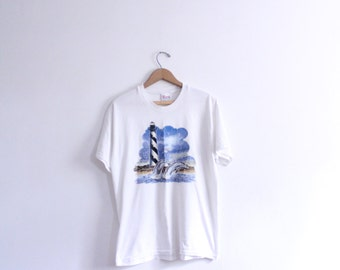 Leaping Dolphin Lighthouse T Shirt