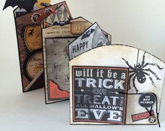 Halloween Photo Album, Haunted House 3D Photo Book, Pop up Haunted House, Zig Zag Halloween Scrapbook - Trick Or Treat Memory Book