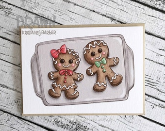 Christmas Holiday Cards: Gingerbread Cookie Couple