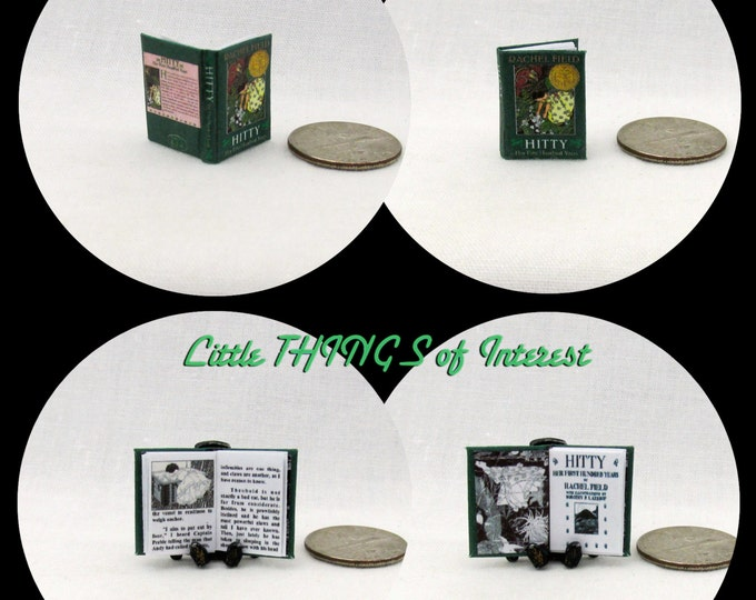 HITTY Her First Hundred Years Miniature Book Dollhouse 1:12 Scale Readable Book