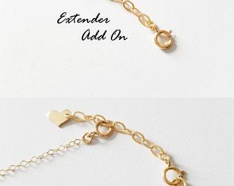 Removable Extender - Add On - Make your necklace or bracelet length adjustable