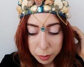 Turquoise Mermaid Crown LARGE: Blue Like My Heart
