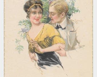Otto Schilbach Lucky Lady Postcard, c. 1910