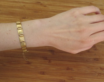 Swedish 18K yellow gold link bracelet / 18 k yellow gold bracelet / 750k gold link bracelet / Swedish made 18 k gold bracelet with safety