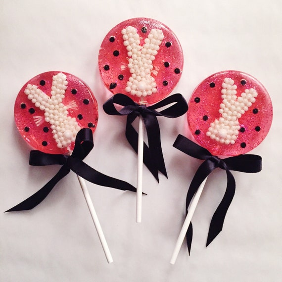 3 Cotton Candy Pearl Bunny Lollipops