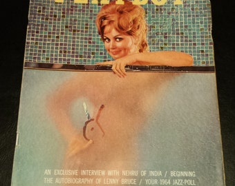Vintage 1963 October Issue of Playboy Magazine