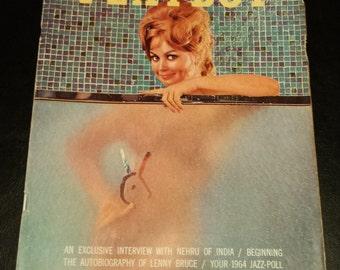 Vintage 1963 October Issue of Playboy Magazine