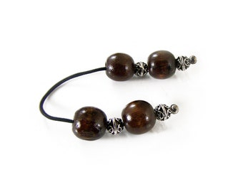 Large Wood and Metal Beads Begleri, Worry Beads, Passing Time, Relaxation