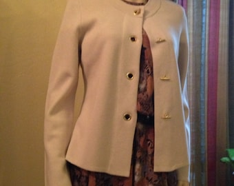 Nice Vintage Cotton Knit Beige Classic Sweater by Charter Club