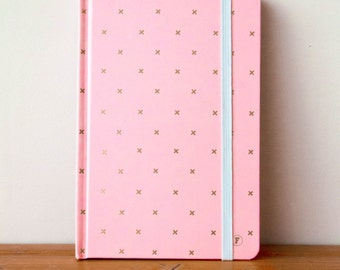 A5 Pink/Cross Journal