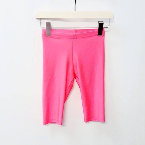 80s Spandex Shorts Leggings Neon Pink Festival Clothing