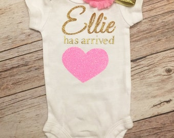 Personalized Take Me Home Outfit, Newborn Hospital Gown , Newborn Coming Home Outfit, Personalized Baby Gift Set, Newborn Hospital Outfit