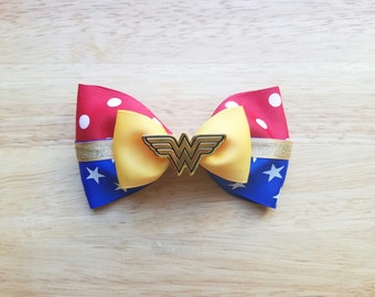 Wonder Woman Inspired Hair Bow, Cosplay