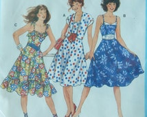 Fitted Bodice Sun Dress Sewing Pattern Full Skirt & Cropped Jacket/Burda 7500/Misses Size 8,10,12,14,16/princess seams shoulder straps/Uncut