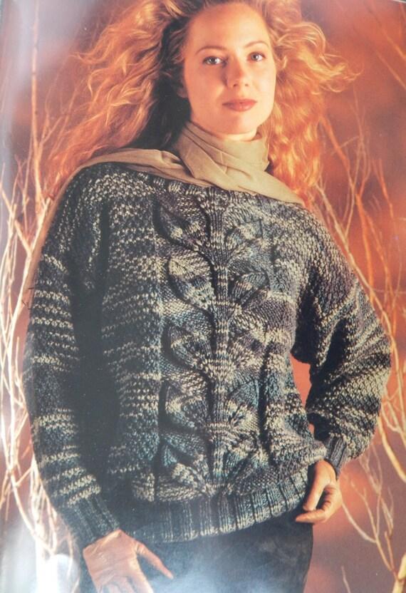 Pullover Sweater Knitting Patterns/Bernat Chunky Classic 1271/ Men ...