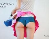 Hand Embroidered Blue Petrol panties - DezaYeppa's Secret